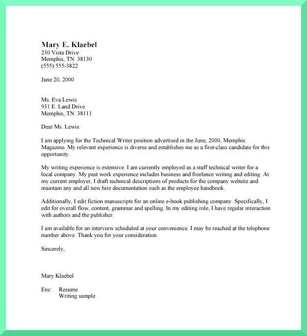 Shining Formal Cover Letter 1 Letter Examples Template Samples ...