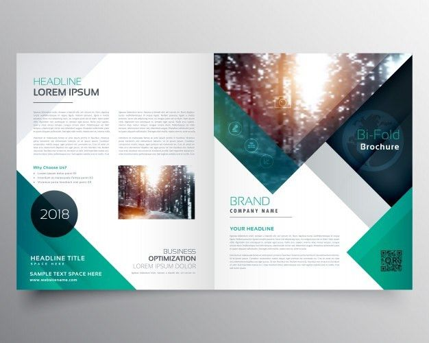 Green business brochure template Vector | Free Download