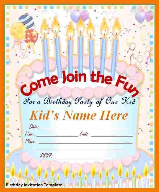 2+ birthday invite template word | mailroom clerk