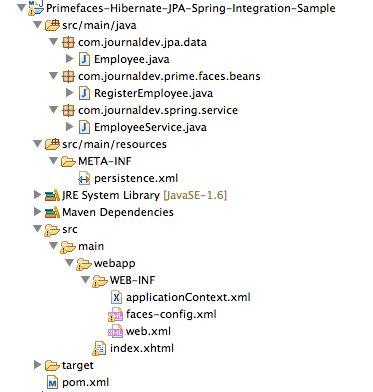 Primefaces, Spring 4 with JPA (Hibernate 4/EclipseLink) Example ...
