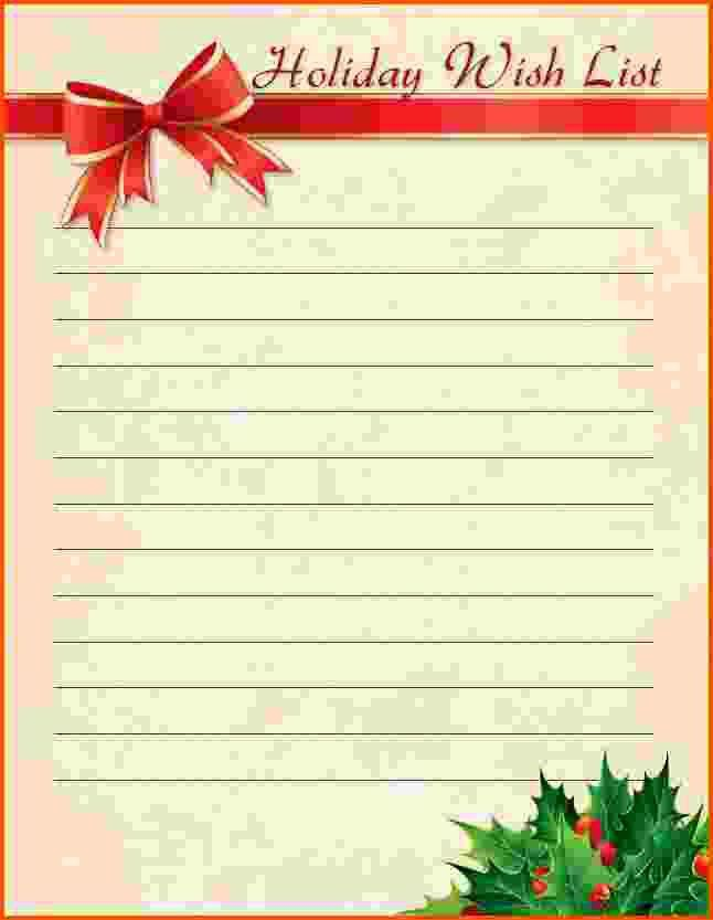 6+ christmas wish list template | Survey Template Words