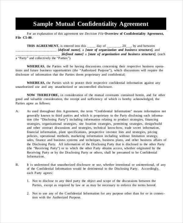 Mutual Agreement Sample | Jobs.billybullock.us