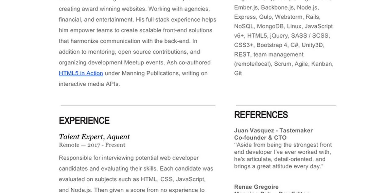 Ash Blue's Resume - Google Docs