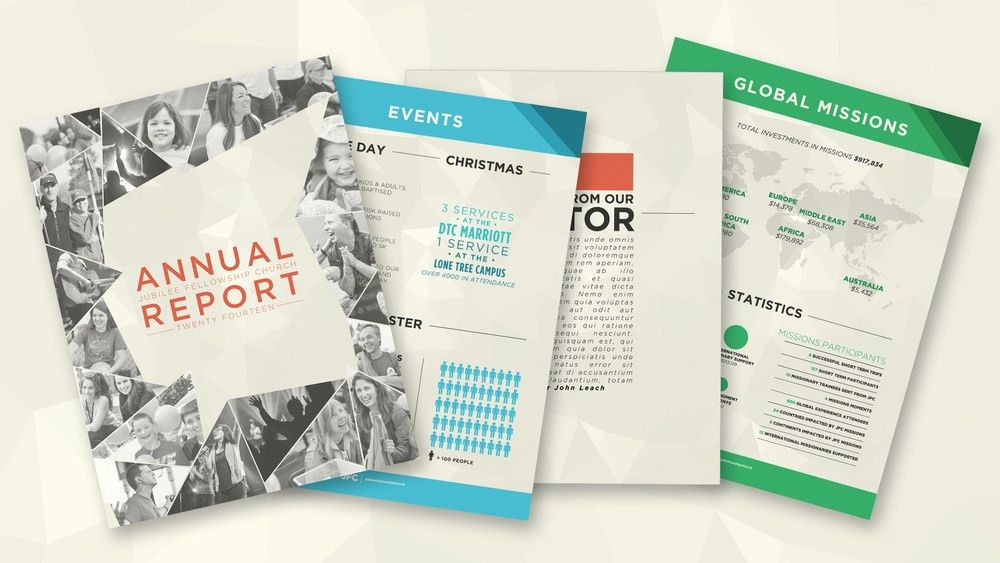 Annual Report (Adobe InDesign Template) — One Church Resource