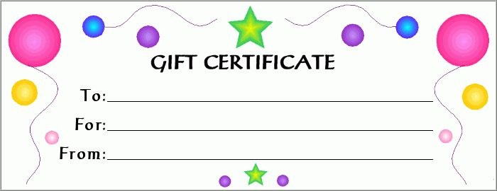 28 Cool Printable Gift Certificates | Kitty Baby Love