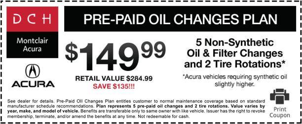 Service & Parts Specials | DCH Montclair Acura