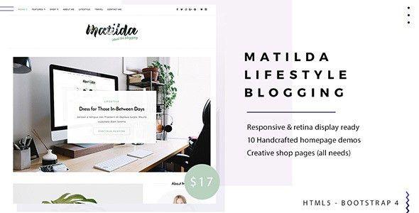 Matilda | Lifestyle Minimal Responsive HTML Blog Template by WPDestek