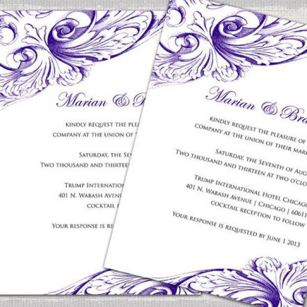 Free Word Templates Wedding Invitations - Wedding Invitation Sample