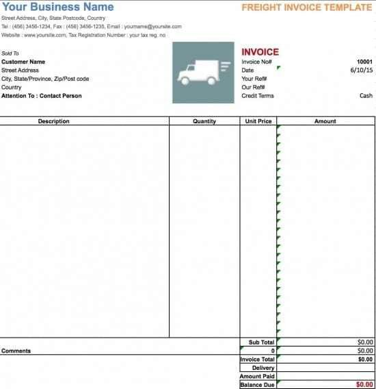 Free Freight/Trucking Invoice Template | Excel | PDF | Word (.doc)