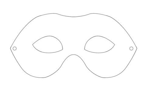 10 Best Images of Plain Mask Print Out - Full Face Mask Template ...