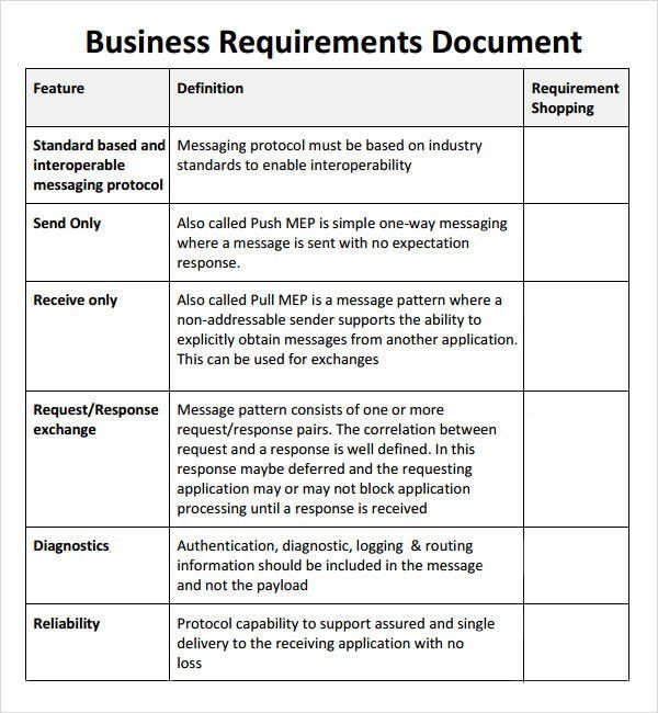 Requirements document template sample business requirement sample business requirements document 6 free documents in pdf word pronofoot35fo Choice Image