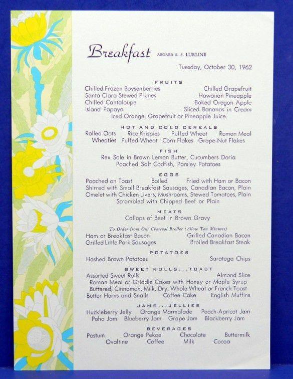 menu format template