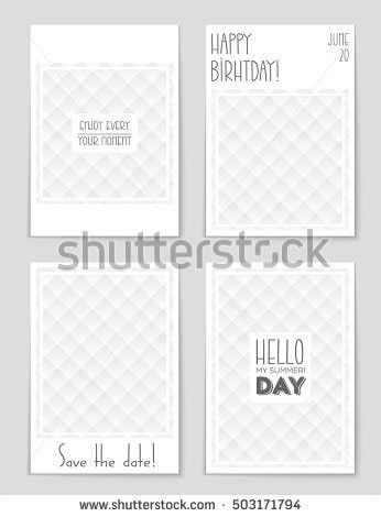 Abstract Vector Layout Background Set Art Stock Vector 503171806 ...