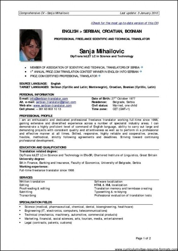 Resume Format For Experienced Professionals | Samples Of Resumes