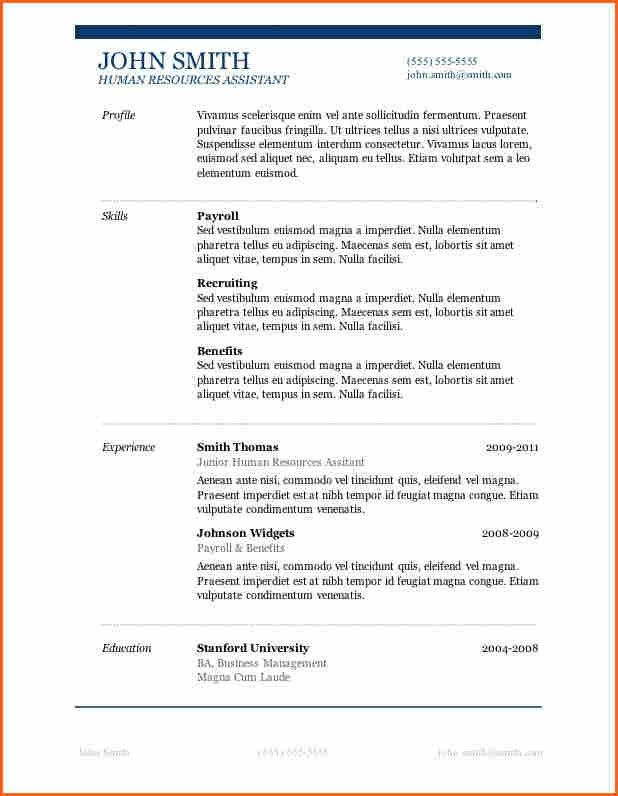 11+ Good Resume Templates - Budget Template Letter
