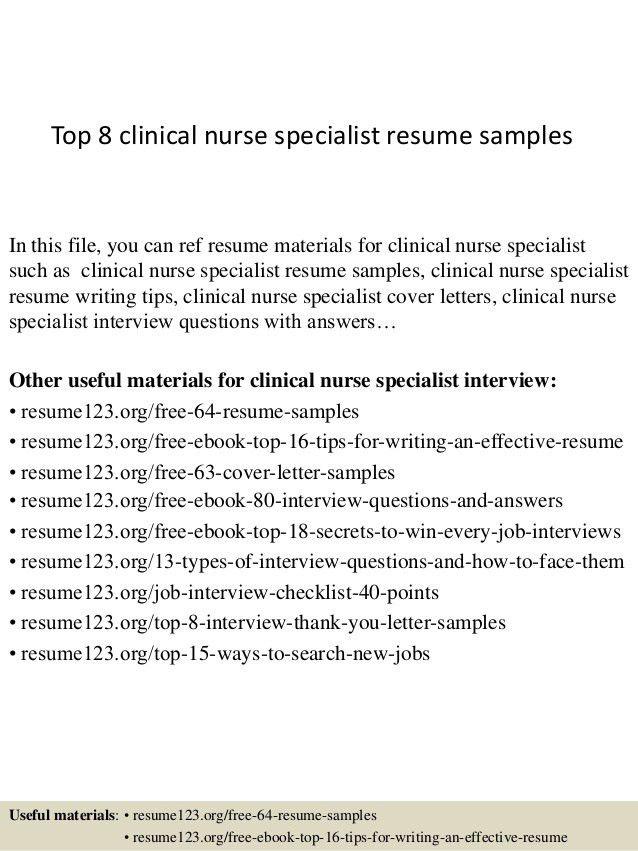 rn resume cover letter clinical nurse specialist resume student rn ...