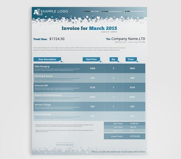 21 best Invoices images on Pinterest | Invoice template, Invoice ...