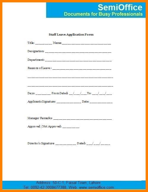 5+ leave application format for employee | ledger paper