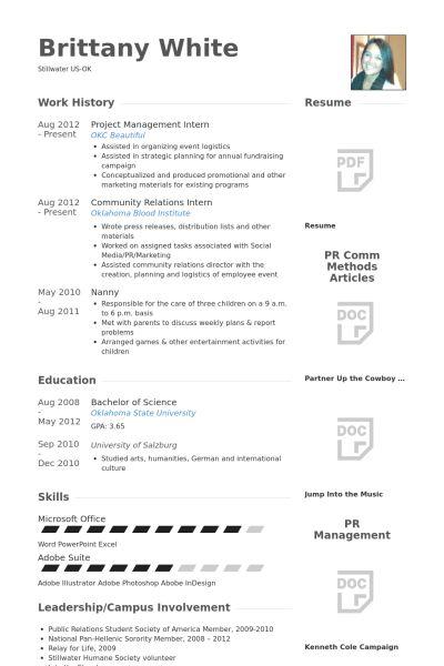 Management Intern Resume samples - VisualCV resume samples database