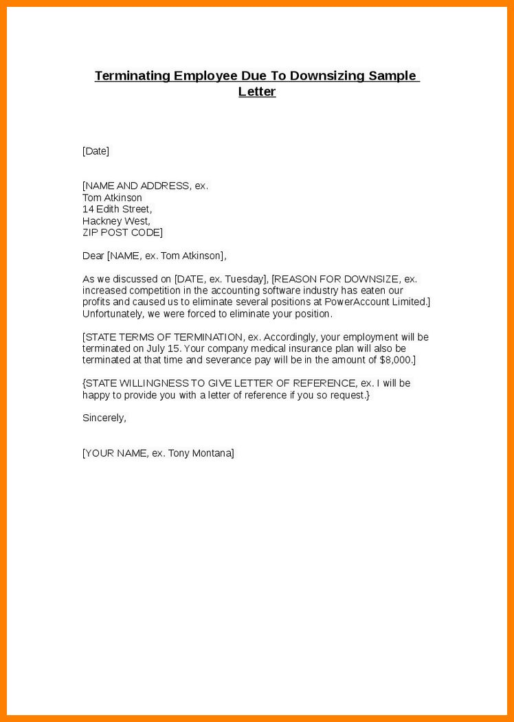 10+ simple termination letter to employee | job resumed