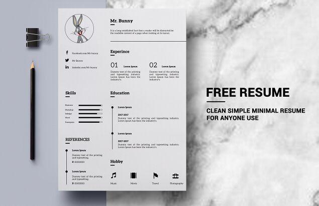 100+ [ Psd Resume Template ] | 50 Beautiful Free Resume Cv ...