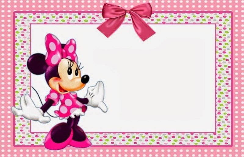 Minnie Mouse Baby Shower Invitations Templates - marialonghi.Com