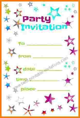 6 free printable birthday invitation templates | Receipt Templates