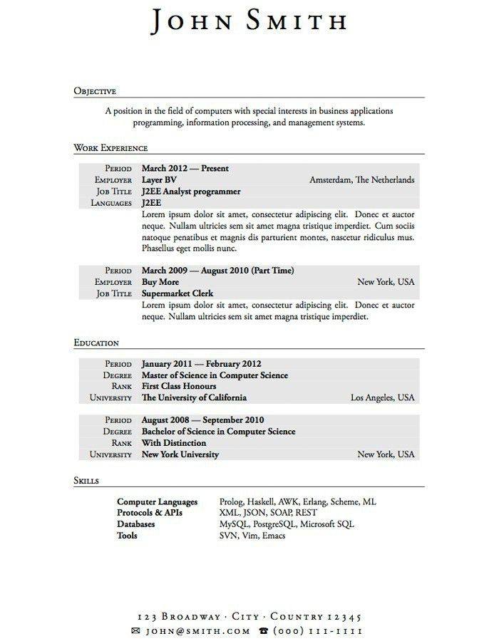 Resume Templates For Students | berathen.Com