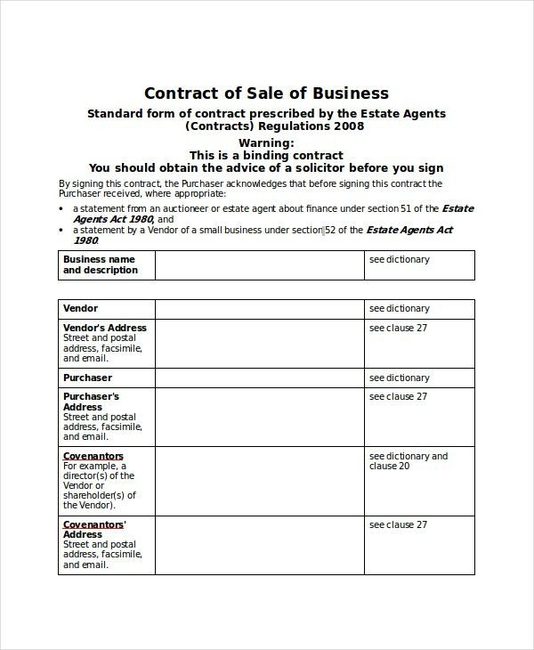 Contract Template - 13+ Free PDF, Word Documents Download | Free ...