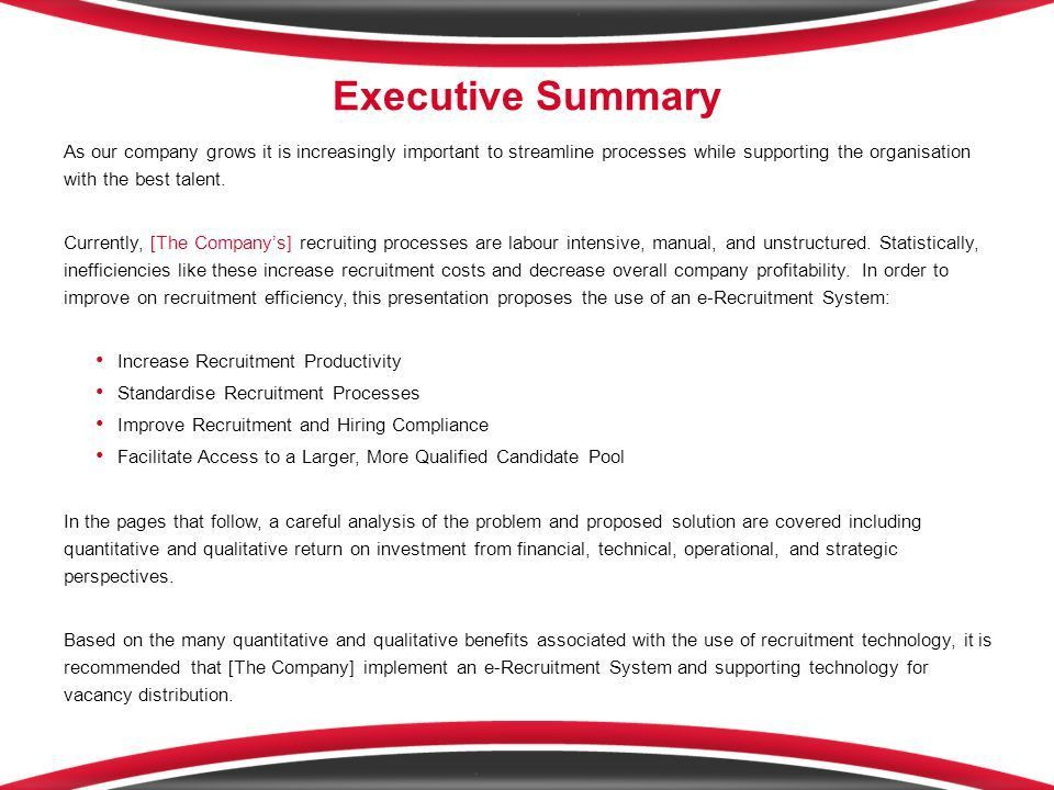 e-Recruitment System Business Case - ppt download