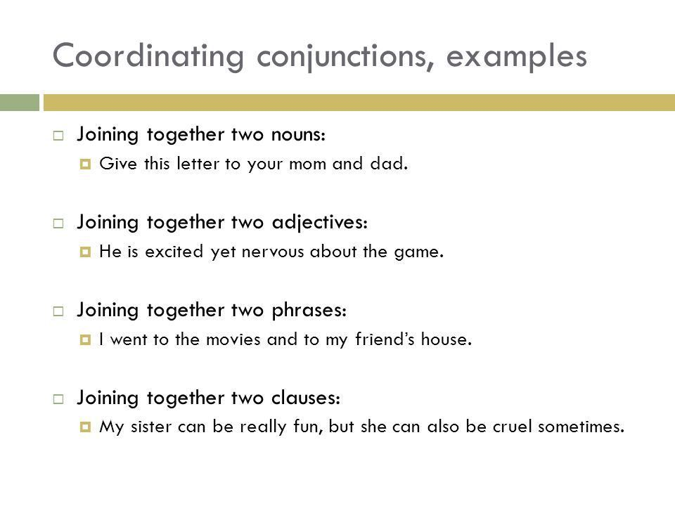 CONJUNCTIONS. Preview  If we cross of all the noun, pronoun ...