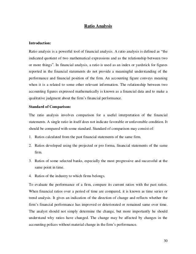 Financial statement analysis and interpretations