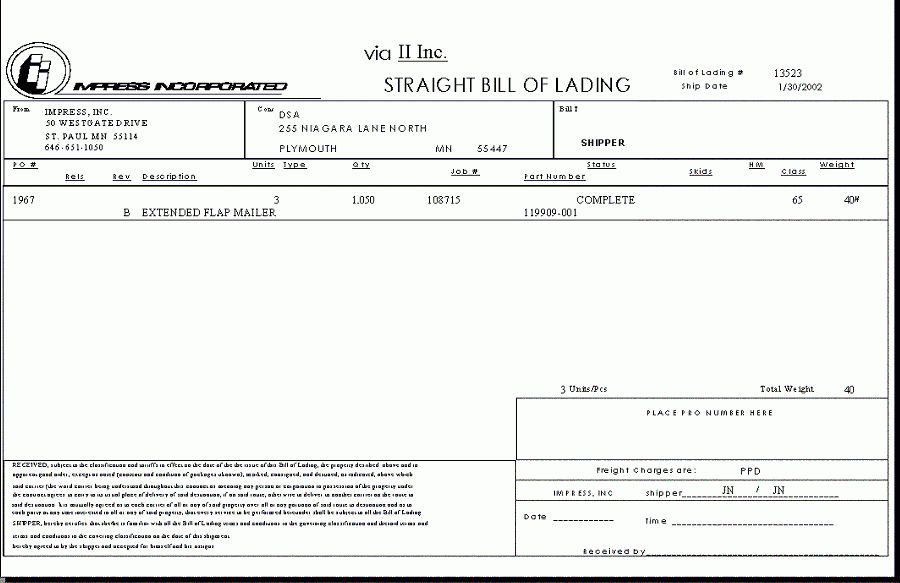 6+ generic bill of ladingReport Template Document | report template