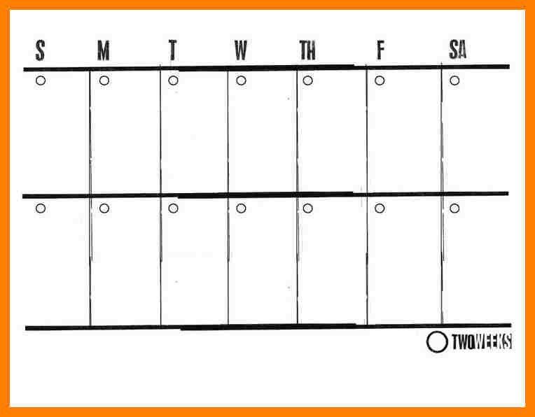 Two Week Calendar Template - Ecordura.com