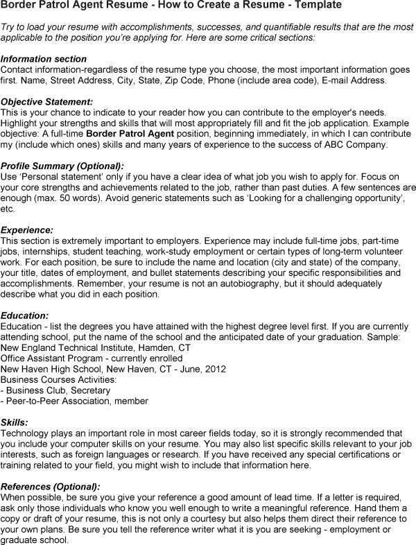 Resume Objective Examples Border Patrol. Resume. Ixiplay Free ...