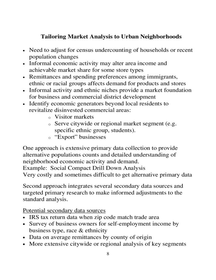 Retail Market Analysis Sample Free Download