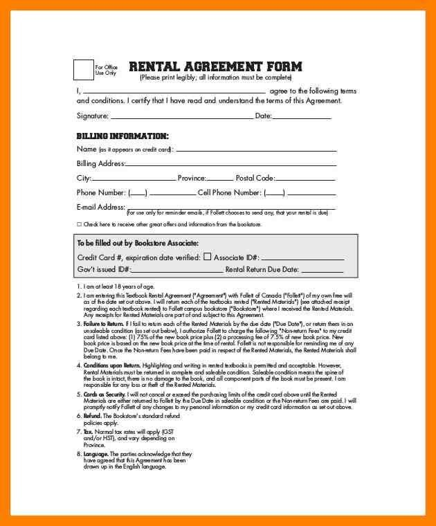 Simple Rental Agreement Template. 11 free rental agreement ...