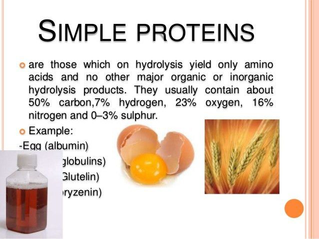 Classification and properties of protein