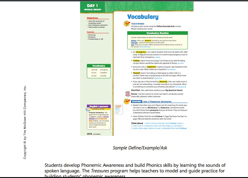 Define/example/ask for vocabulary instruction | Vocabulary ...
