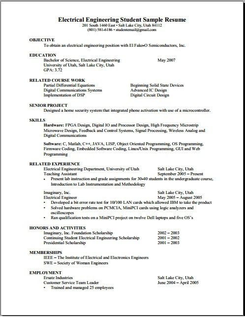 Guide To Create Resume. An Example And Explanation Of An ..