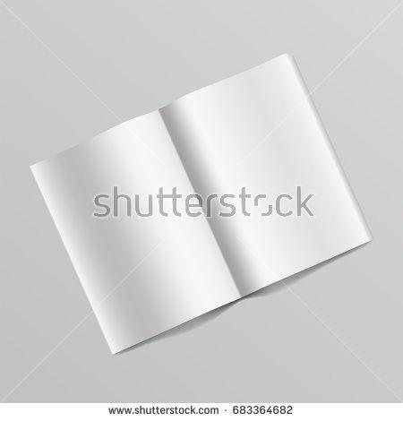 Tri Fold Brochure Template White Mock Stock Illustration 597174401 ...