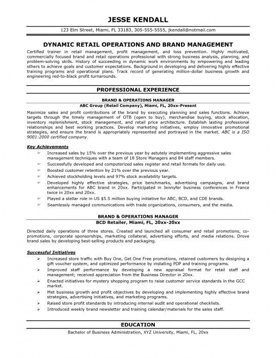 The Incredible It Operations Manager Resume | Resume Format Web