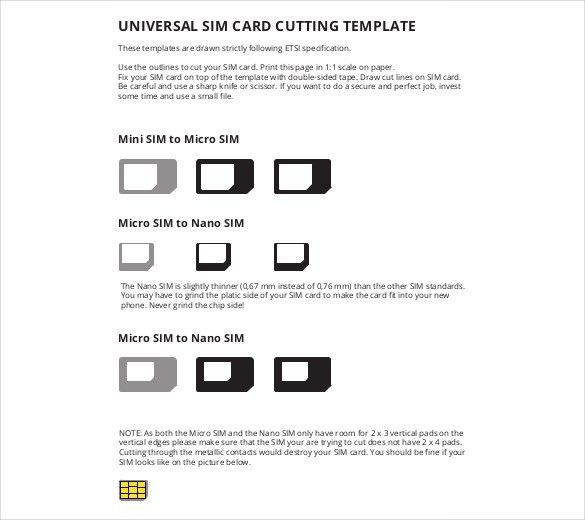 Micro Sim Template – 10+ Free Word, PDF Documents Download | Free ...