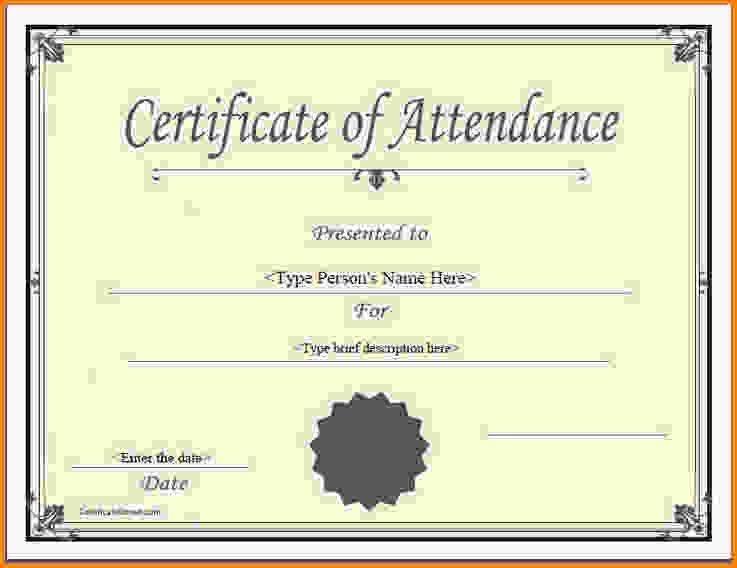 Perfect Attendance Certificate.perfect Attendance Award 6.jpg ...