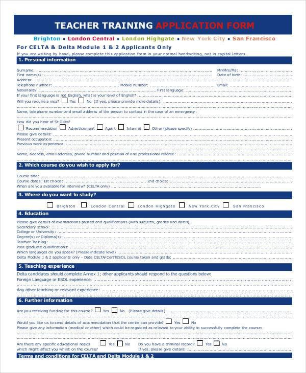 11 Sample College Application Form - Documents in Word, PDF