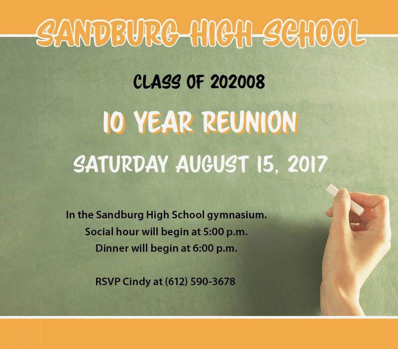 Class Reunion Invitations - Chalkboard | MagnetStreet