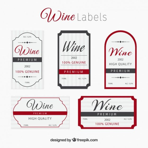Elegant wine label collection Vector | Free Download