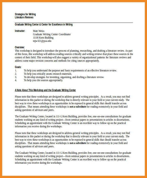 literature review example | art resume examples