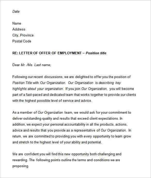 Employee Proposal Letter Employment Proposal Letter Template