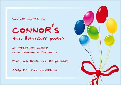 Wonderful Kids Birthday Party Invitation Wording | THERUNTIME.COM